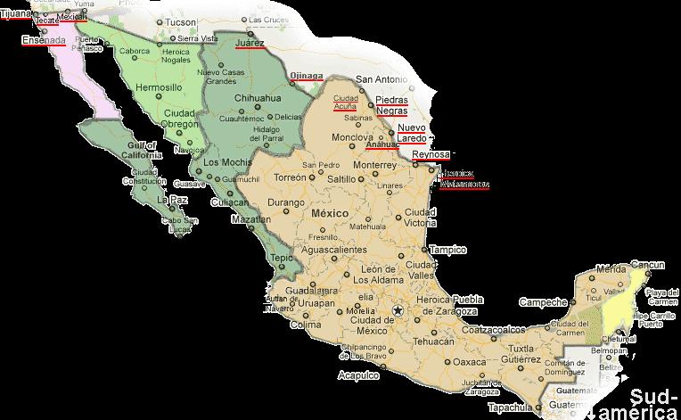 Cambio De Horario Mexico Hora México Mapa Zonas Horarias - Mapa de mexico